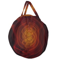High Res Nostars Orange Gold Giant Round Zipper Tote by Mariart