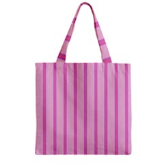 Line Pink Vertical Zipper Grocery Tote Bag by Mariart