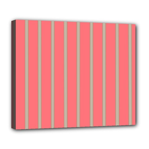 Line Red Grey Vertical Deluxe Canvas 24  X 20   by Mariart