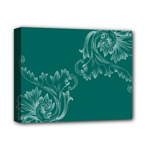 Leaf Green Blue Sexy Deluxe Canvas 14  X 11  by Mariart