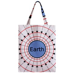 Magnetik Earth s Gravitational Line Triangle Zipper Classic Tote Bag by Mariart