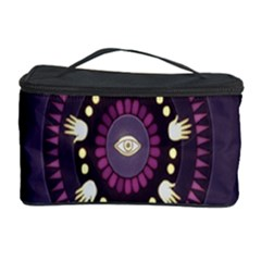 Mandalarium Hires Hand Eye Purple Cosmetic Storage Case by Mariart