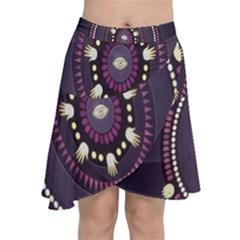 Mandalarium Hires Hand Eye Purple Chiffon Wrap