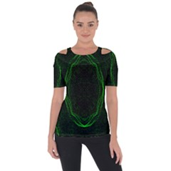 Green Foam Waves Polygon Animation Kaleida Motion Short Sleeve Top by Mariart