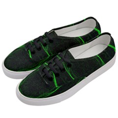 Green Foam Waves Polygon Animation Kaleida Motion Women s Classic Low Top Sneakers by Mariart
