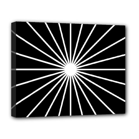 Ray White Black Line Space Deluxe Canvas 20  X 16   by Mariart