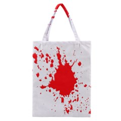 Red Blood Splatter Classic Tote Bag by Mariart