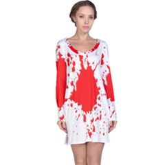 Red Blood Splatter Long Sleeve Nightdress by Mariart