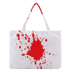 Red Blood Splatter Medium Tote Bag by Mariart