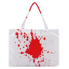 Red Blood Splatter Zipper Medium Tote Bag by Mariart