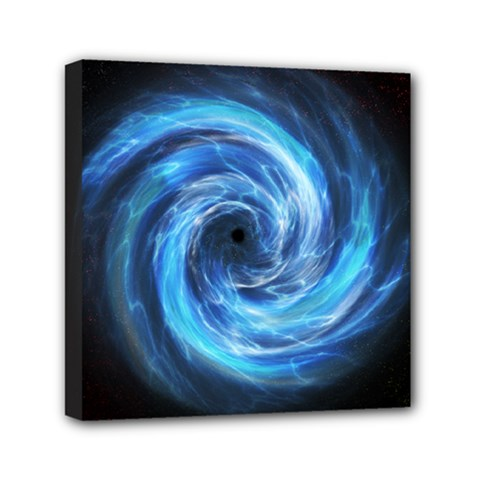 Hole Space Galaxy Star Planet Mini Canvas 6  X 6  by Mariart