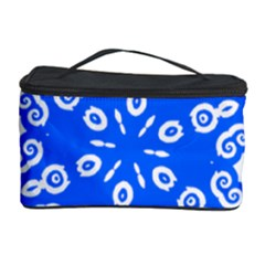 Snowflake Art Blue Cool Polka Dots Cosmetic Storage Case by Mariart