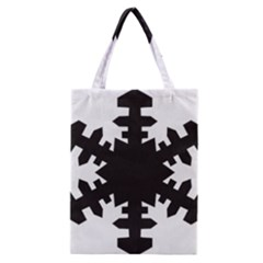 Snowflakes Black Classic Tote Bag by Mariart