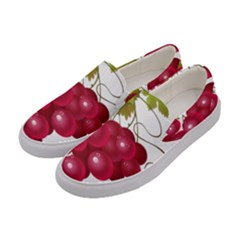 Red Fruit Grape Women s Canvas Slip Ons by Mariart