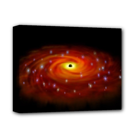 Space Galaxy Black Sun Deluxe Canvas 14  X 11  by Mariart