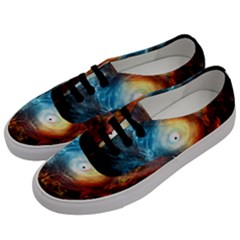 Supermassive Black Hole Galaxy Is Hidden Behind Worldwide Network Women s Classic Low Top Sneakers by Mariart