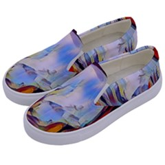 Abstract Tunnel Kids  Canvas Slip Ons by 8fugoso
