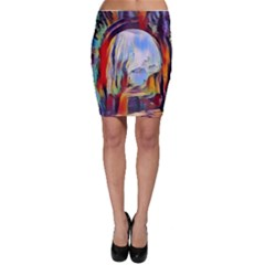 Abstract Tunnel Bodycon Skirt by 8fugoso