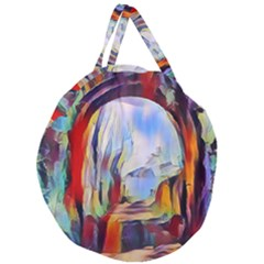 Abstract Tunnel Giant Round Zipper Tote by 8fugoso