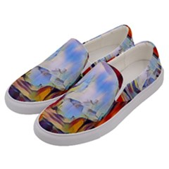 Abstract Tunnel Men s Canvas Slip Ons by 8fugoso