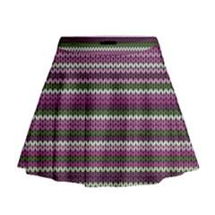 Winter Pattern 2 Mini Flare Skirt by tarastyle