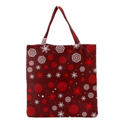 Winter Pattern 14 Grocery Tote Bag by tarastyle