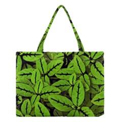 Nature Print Pattern Medium Tote Bag by dflcprints