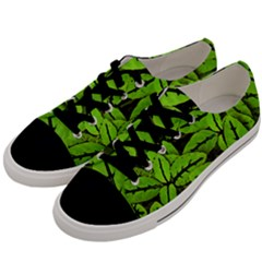 Nature Print Pattern Men s Low Top Canvas Sneakers by dflcprints