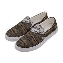 Shabbychicwoodwall Women s Canvas Slip Ons by 8fugoso