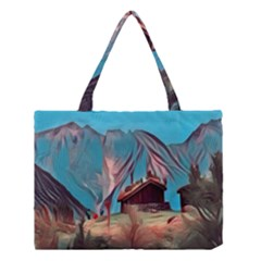 Modern Norway Painting Medium Tote Bag by Love888