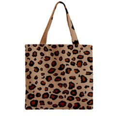 Leopard Print Zipper Grocery Tote Bag by TRENDYcouture