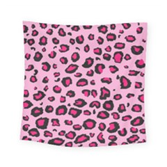 Pink Leopard Square Tapestry (small) by TRENDYcouture