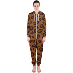 Dark Leopard Hooded Jumpsuit (ladies)  by TRENDYcouture