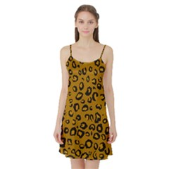Golden Leopard Satin Night Slip by DreamCanvas