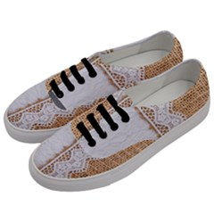 Parchement,lace And Burlap Men s Classic Low Top Sneakers by 8fugoso
