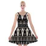 Halloween pattern Velvet Skater Dress