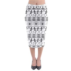 Halloween Pattern Midi Pencil Skirt by ValentinaDesign
