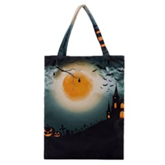 Halloween Landscape Classic Tote Bag by ValentinaDesign