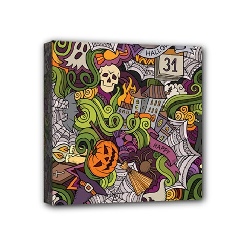 Halloween Pattern Mini Canvas 4  X 4  by ValentinaDesign