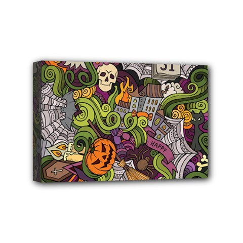 Halloween Pattern Mini Canvas 6  X 4  by ValentinaDesign