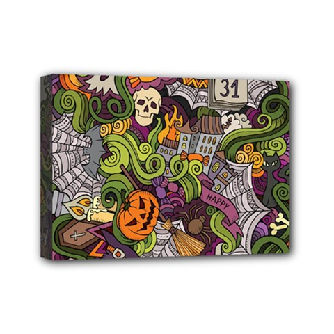 Halloween Pattern Mini Canvas 7  X 5  by ValentinaDesign