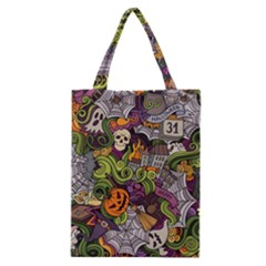 Halloween Pattern Classic Tote Bag by ValentinaDesign