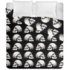 Halloween Skull Pattern Duvet Cover Double Side (california King Size) by ValentinaDesign