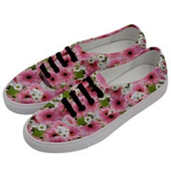 Pink Flower Bg 2 Men s Classic Low Top Sneakers by AllOverIt