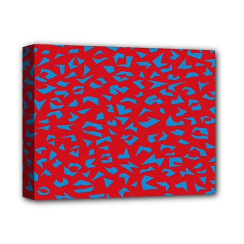 Blue Red Space Galaxy Deluxe Canvas 14  X 11  by Mariart