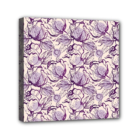 Vegetable Cabbage Purple Flower Mini Canvas 6  X 6  by Mariart