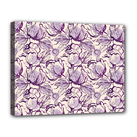 Vegetable Cabbage Purple Flower Canvas 14  X 11  by Mariart