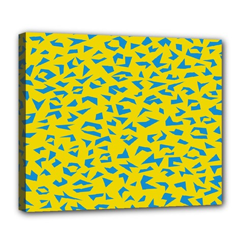 Blue Yellow Space Galaxy Deluxe Canvas 24  X 20   by Mariart