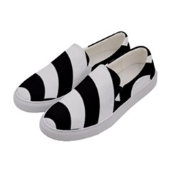 Circle White Black Women s Canvas Slip Ons by Mariart