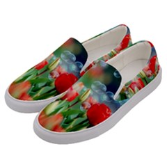 Colorful Flowers Men s Canvas Slip Ons by Mariart